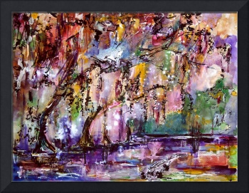 Okefenokee Mystic Magic Watercolor by Ginette