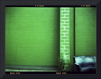 Blue Couch Green Wall