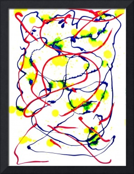 ABSTRACT IN RED, YELLOW, and BLUE, EDIT B