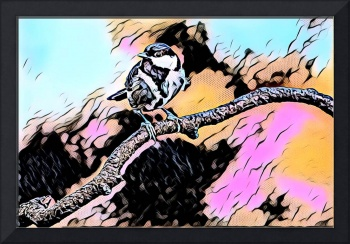 Bird on Branch Pop Art Comic