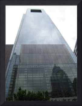 Comcast Center with Reflection of Liberty One