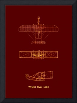 Three View Labeled Airframe Diagram Wright Flyer 1
