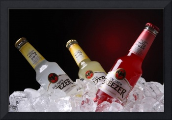 Bacardi Breezer bottle on Ice