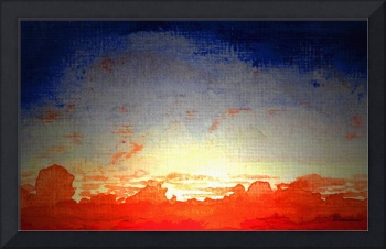 Dawn of a new day Acrylic Painting 3b