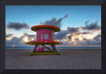 Pretty in Pink ~ 10th Street Lifeguard Tower