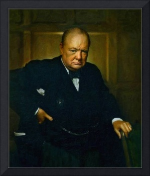 Winston Churchill, Prime Minister of UK, 1941 oil