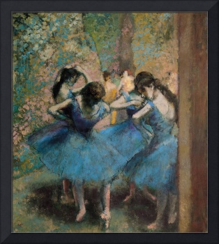 Dancers in Blue, 1890, by Edgar Degas