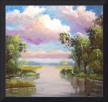 Florida Everglades Marsh Painting