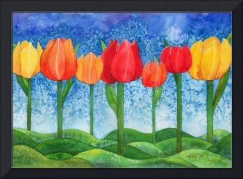 Tulip Trees Watercolor