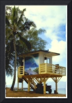 Lifeguard Stand in Hawaii