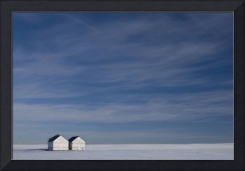 Hussar, Alberta, Canada, Two Small Farm Buildings