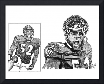 Ray Lewis Sketch Drawing