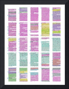 Highlighted poster 24 in. wide x 32 in. high