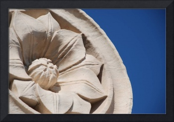 sculpted flower atop the duomo, florence, italy