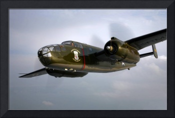 A North American B 25 Mitchell in flight