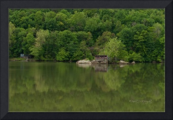 Island House At Gauley Bridge, West Virginia