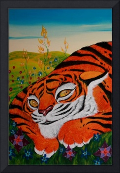 LEFT SIDE Timothy and the Tiger Diptych