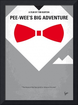 No511 My Pee Wees Big Adventure minimal movie post