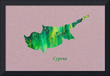 Artistic Map of Cyprus
