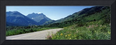 Red Rock Canyon Road Waterton Glacier National Pa