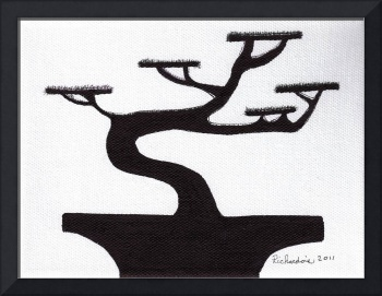 Zen Sumi Bonsai Tree 1a Ink on Canvas