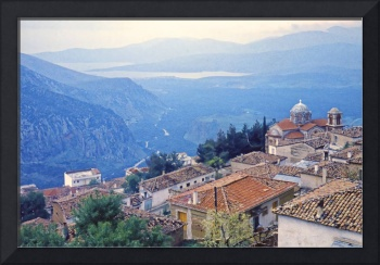 View from Delphi down to the Saronic Gulf, 1960