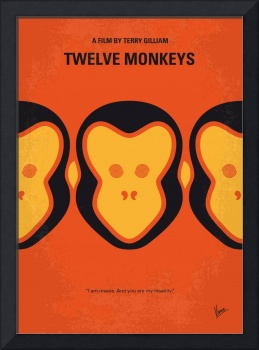 No355 My 12 MONKEYS minimal movie poster