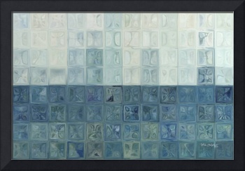 Tile Art #6, 2015. Modern Mosaic Tile Art Painting