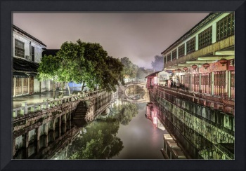 Nanxiang Ancient Town at Night (Shanghai, China)