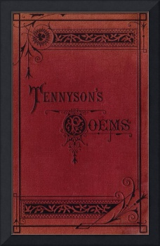 Tennyson's Poems book cover, c. 1880s edition
