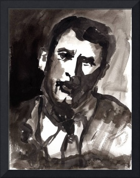 Man - Ink & Watercolor Wash Original by Ginette