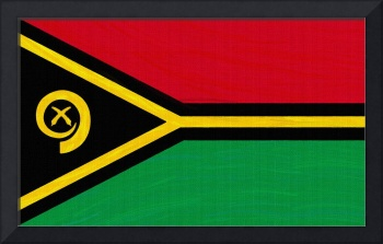 Flag of Vanuatu ,  County Flag Painting ca 2020 by