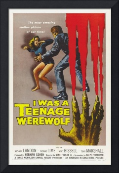 I Was A Teenage Werewolf Movie Poster