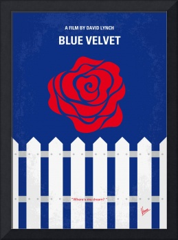 No170 My BLUE VELVET minimal movie poster