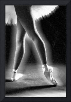 Ballet Dancer Legs Black and White