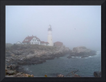 Portland Head Light in Fog