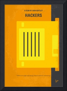 No684 My Hackers minimal movie poster