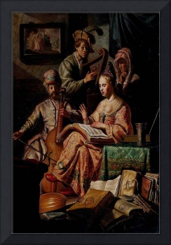 Rembrandt 1626 The Music Party - PD Image