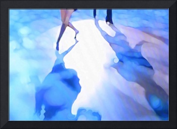 Ballroom dance floor abstract 3, digital painting