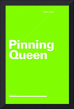 Pinning Queen typographic poster - Green and White