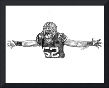 Clay Matthews Portrait Drawing