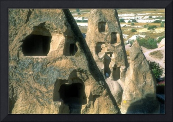 Cave Houses With Satellite Dish
