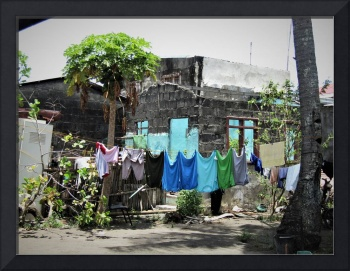 Clothes drying in a Filipino yard