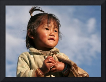 Nepalese girl - looking to the future