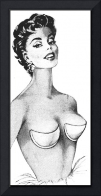 Strapless Backless Bra Girl, 1959 ad