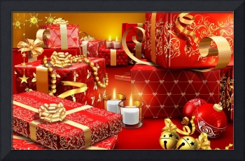 Red and Gold Christmas Presents