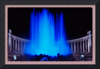 Blue Waterfountain
