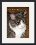 Purr~fect poster by Jacque Alameddine