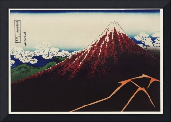 Mount Fuji Illustration by Katsushika Hokusai