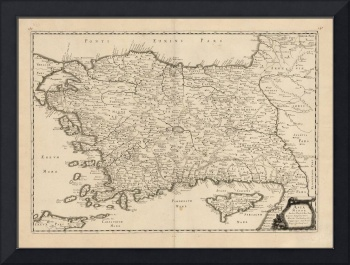 Asia Minor [Shows Cyprus] 1652 Philippe de la Rue